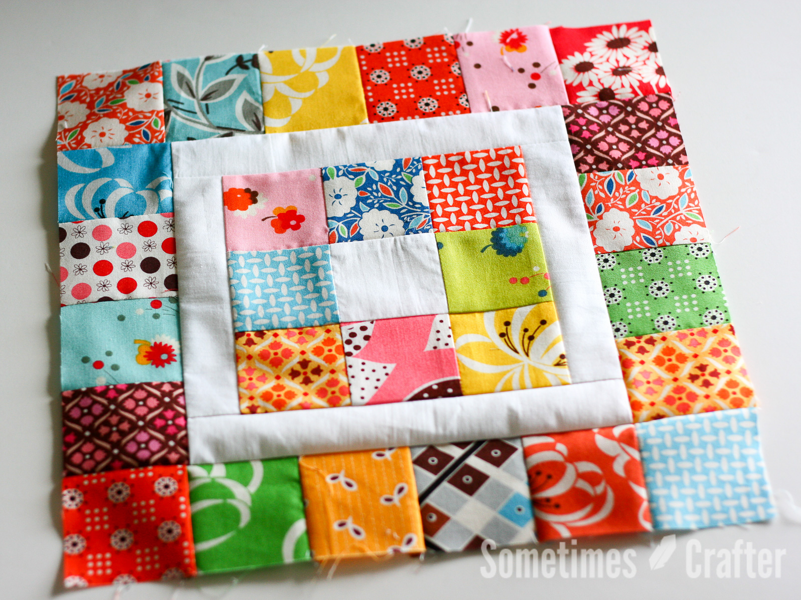 Sometimes Crafter // Square in a Square Block