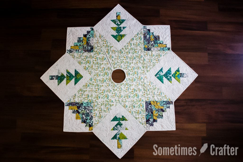 quilted christmas tree skirt sometimes crafter - Quilted Christmas Tree Skirt Pattern