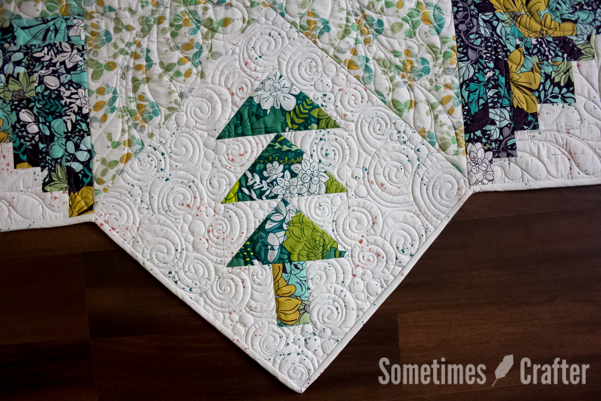 Quilted Christmas Tree Skirt – Sometimes Crafter