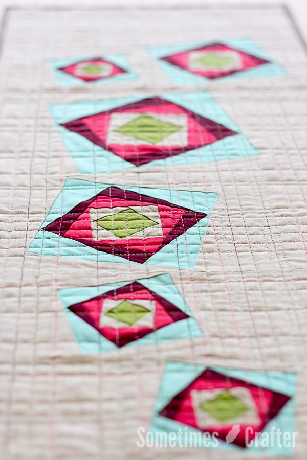 Sometimes Crafter // Freezing Rain Table Runner Pattern