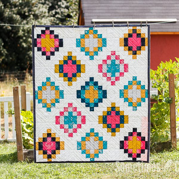 Sometimes Crafter // Painted Basket Quilt Pattern