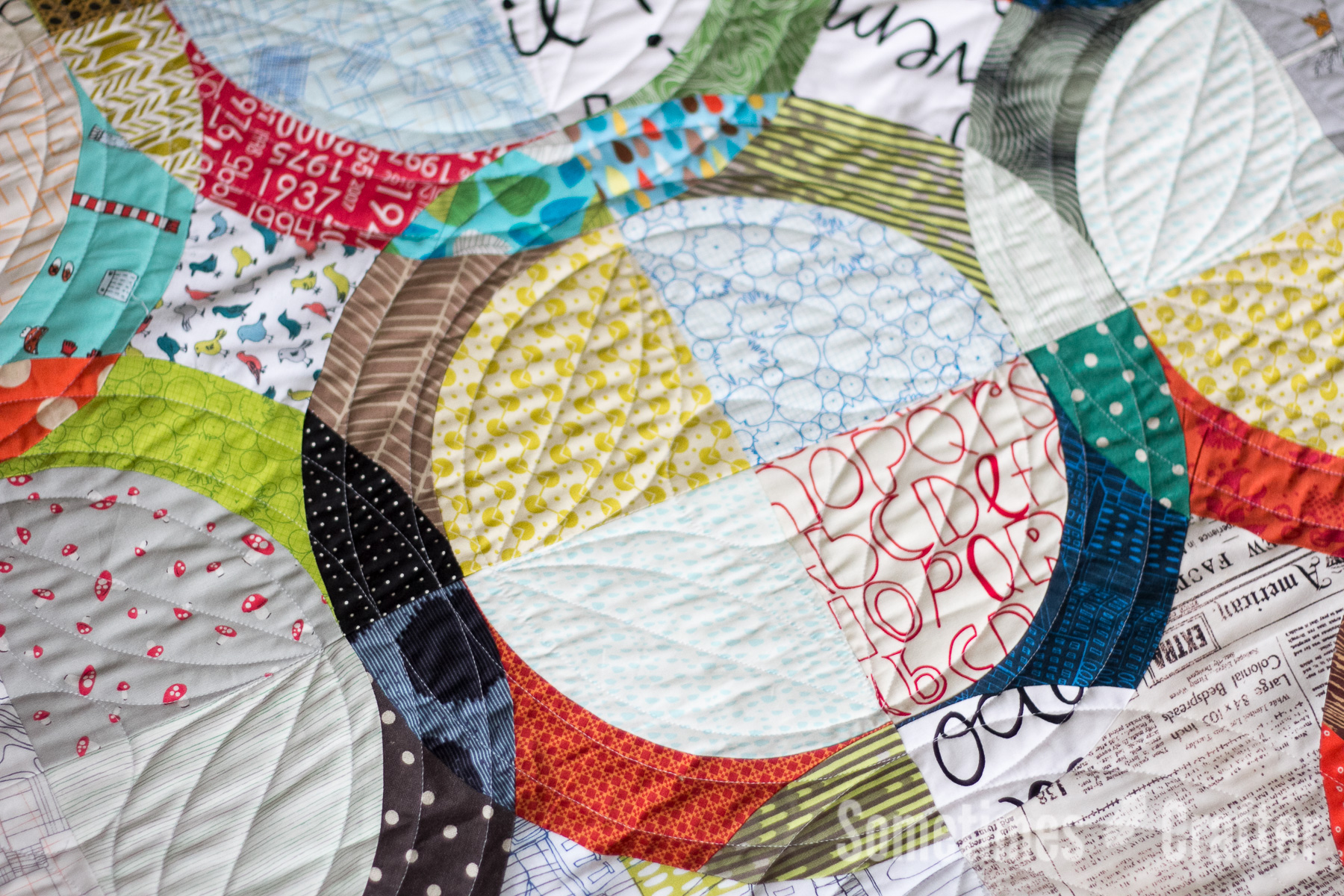 Sometimes Crafter Quilting // Melissa Everett's January Quilt