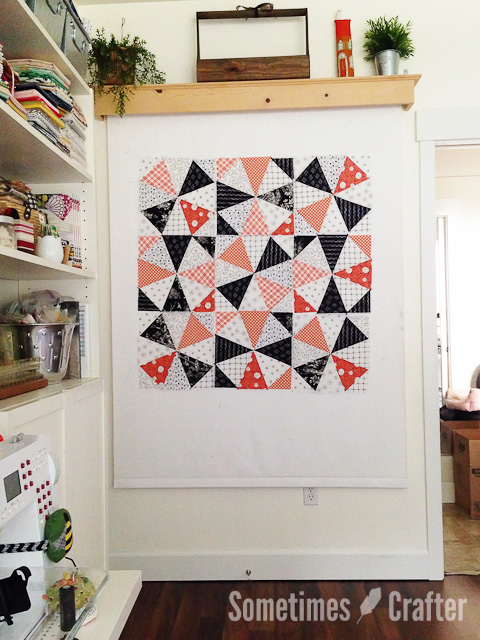 Black and Orange Kaleidoscope Quilt