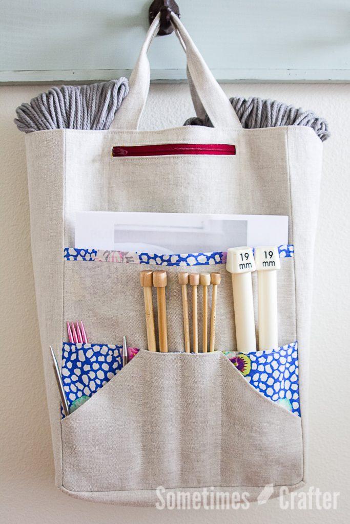 Quilted Knitting Bag Pattern : Amanda s knitting bag pattern sometimes crafter