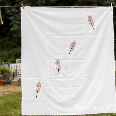 Sometimes Crafter // Feathers in the Wind Quilt Pattern
