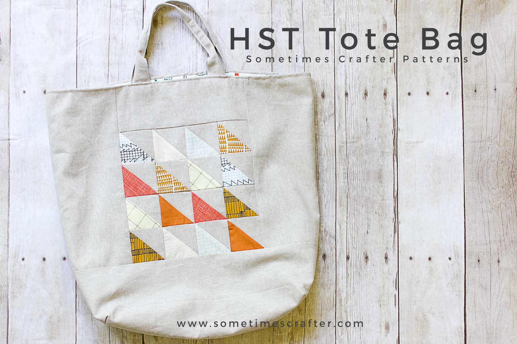 Sometimes Crafter // HST Tote Bag Pattern